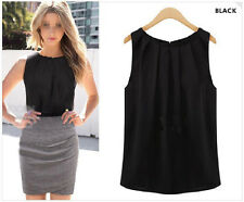 Size L New Sexy Women Summer Loose Sleeveless Casual Tank T-Shirt Blouse Tops