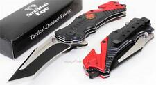 SNAKE EYE Fireman Fire Fighter Tanto Rescue Spring Assisted Opening Pocket Knife