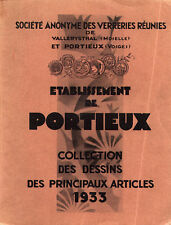 Portieux Glass - 1933 catalog on CD