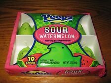 "PEEPS ""SOUR WATERMELON"" EASTER MARSHMALLOW 10 COUNT NEW!"