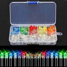 200x 5mm Round LED Light White Yellow Red Blue Green Assortment Emitting Diodes