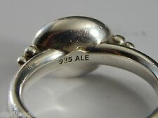 Vintage Pandora Ale Sterling Silver 925 Gray Moonstone (?) Ring Size 8