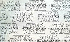 "Star Wars ""THE FORCE AWAKENS"" Print on White Cotton   FAT QUARTER"