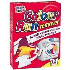 12 foglio colore eseguire Smacchiatore LAVATRICE LAVANDERIA Mix Tessuto Panno Lavaggio sicuro