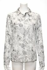 3J workshop by Johnny Was ; Floral  Silk/CottonL/S High/Low Basic Shirt, XL