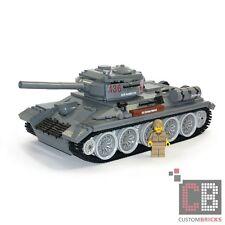 CUSTOM T34-85 Sovjet Panzer Tank 1 Soldat WW2 WWII aus LEGO® Steinen gebaut