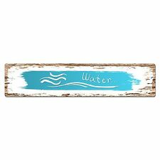 SP0396 WATER Street Chic Sign Bar Store Shop Cafe Home Wall Interior Decor