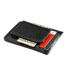Genuine Leather Money Clip Magnet Slim Thin Pocket Wallet ID Credit Card Holder