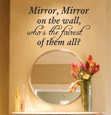 Mirror Mirror On The Wall Decal Sticker Family Art Graphic Home Decor Mural