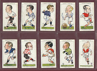 FOOTBALL  -  OGDENS  LTD. - SCARCE SET OF 50 FOOTBALL CARICATURES CARDS  -  1935