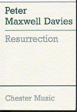 Peter Maxwell Davies Resurrection Learn to Play Orchestra Voice Music Book