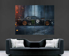 FORD MUSTANG POSTER RTR 1965 CAR FAST IMAGE LARGE WALL PICTURE