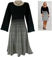 3X 22 24 NWT SEXY Womens CALVIN KLEIN B&W SWEATER DRESS Striped PLUS SIZE NEW