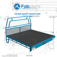 Dual Cab steel Tray Plans -1700x1800 - Build your own ute tray. A4