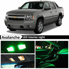 14x Green LED Lights Interior Package Kit 2007-2014 Chevy Avalanche