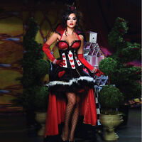 Queen of Hearts Fancy Dress Fairytale Sexy Alice in Wonderland Book Day Costumes