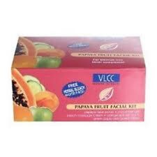 VLCC PAPAYA FRUIT FACIAL KIT REDUCES WRINKLES & LIGHTENS ALL AGE SPOTS SET OF 5
