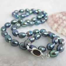 """18"""" 6-7mm Peacock AA Rice Freshwater PearlNecklace"""