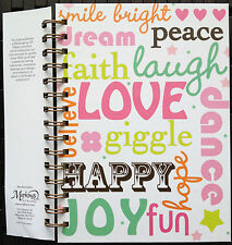 Inspirational C.R Gibson Lined Journal Laugh Love Believe Peace Faith Graduation