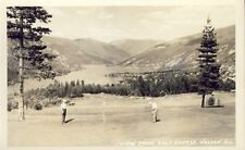 NELSON BRITISH COLUMBIA VIEW FROM GOLF COURSE RPPC Photo Postcard c1947