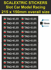 Scalextric Slot car stickers Model Race TAG Heuer Lego decal adhesive vinyl T2