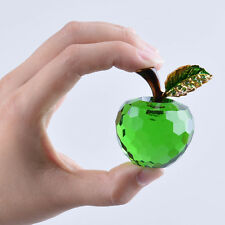 40mm Crystal Apple Figurine Paperweight Ornament Christmas Gift Decoration Box