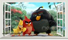 Angry Birds Red Chuk Bomb 3D Windows Removable Wall Decals Stickers Kids Decor