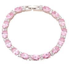 TB458 Hotselling Pink Topaz Silver Charm Bracelet AAA Zircon fashion jewelry