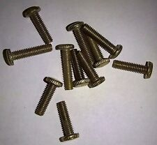 "8/32"" X 3/4"" long Screws Knurled Head Brass Finish Repair Lamp 10 pack"