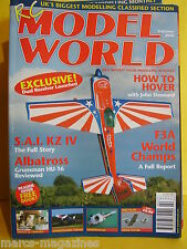 "RCMW FEBRUARY 2006 RC MODEL WORLD GROB TUTOR 40"" PLAN SAI KZ IV PIRAHNA LIGHT FL"