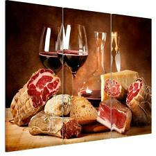Unframed Modern HD Canvas Print Home Decor Wall Art Painting Red Wine Bread Food
