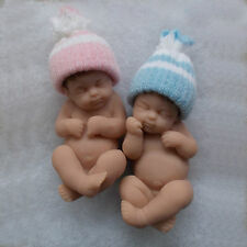 "4"" POLYMER CLAY OOAK TWIN BABY DOLLS - ANY COMBINATION BOY OR GIRL"
