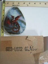FREE US SHIP ok touch lamp replacement glass panel Flying Red Dragon 603-US12