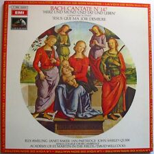 BACH (LP 33 Tours) CANTATE N° 147 ELLY AMELING JANET BAKER DAVID WILLCOCKS