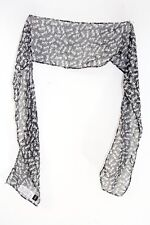 VISCOSE CUTE CHIC KITTEN PATTERN STATEMENT MONOCHROME PRINT SCARF(MS41pt1)