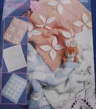 KNITTING PATTERN - 3 DIFFERENT BABY PRAM COVERS/BLANKETS IN DK & CHUNKY