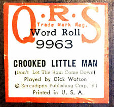QRS Word CROOKED LITTLE MAN Don't Let The Rain Come Down 9963 Player Piano Roll
