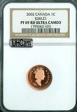 2002 CANADA JUBILEE CENT NGC MAC PR69 UHCam ULTRA HEAVY CAMEO FINEST SPOTLESS  *