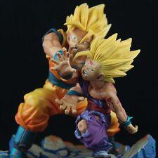 Anime Dragonball Z GT KAI Son Goku Gohan Kamehameha Statue Figure Diorama In Box