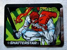 "MARVEL SUPER HEROES ""SHATTERSTAR"" FOIL VENDING MACHINES STICKER GREAT SHAPE 90's"