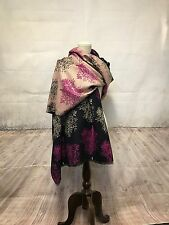"""New Large 68""""x28"""" Wome 4 Ply Cashmere Shawl Wrap Scarf Sacrves patterned"""