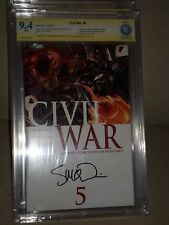 Civil War #5 1st Print CBCS SS 9.4 McNiven Captain America 3 movie Avengers CGC