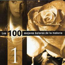 New: Los 100 Mejores Boleros de La Historia 1 (Celia Cruz, Monco, Tito Gomez) CD
