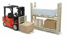 NewRay 1:14 scale Remote Control Fork Lift truck w warehouse racks pallets N430