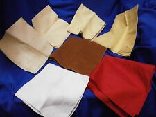"7 VINTAGE LADIES Hankies Handkerchiefs Lot ""YBR"" Plain 4 shades Yellow Brown Red"