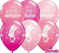 """25 x 11"""" Minnie Mouse Happy Birthday Latex Balloons Ideal Party Decoration"""