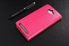 For ASUS Zenfone Max ZC550KL Retro Leather Wallet case Back Cover