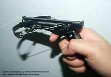 Top Mini Crossbow Shooting Toy 2015 Black Color -Made by Aviation Aluminum Alloy