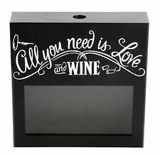 All You Need Is Love And Wine - Bottle Cork Collector Holder ~ Box Frame
