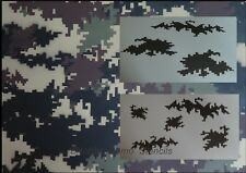 "Camo Digital 03 Large 2pc kit (2) 20x12""stencils. Camouflage, Duckboat"